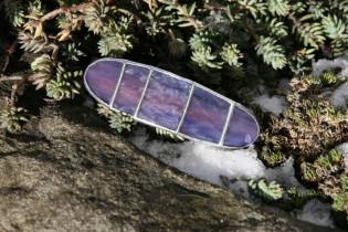 Spona malá fialová - Lesní sklo