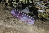 Spona fialová kulatá - Lesní sklo
