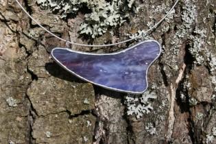 Náhrdelník fialový - Lesní sklo