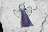 Andílek fialový se srdíčkem - Lesní sklo