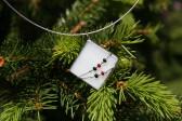 Šperk paní Zimy s korálky - Lesní sklo
