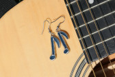 Náušnice notičky modré - Lesní sklo