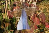 Anděl fialový zdobený - Lesní sklo