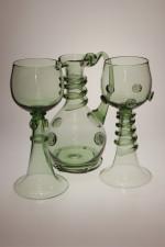 Svatební číše se spinou - Lesní sklo