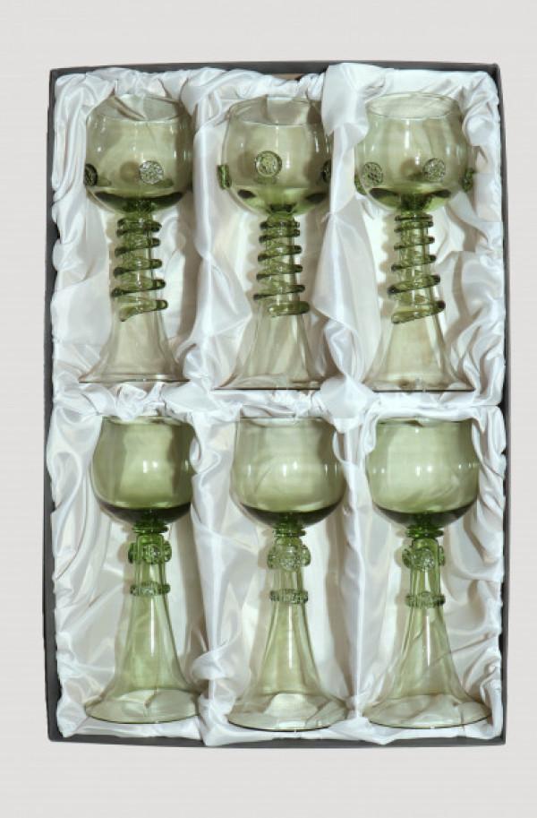 Dárkové balení šesti svatebních číší -2 typy číší - Lesní sklo