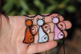 Kočka růžová - Lesní sklo