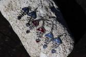 Modrá rybička - Lesní sklo