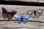 Fialový motýlek na zavěšení - Lesní sklo