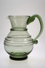 Sada džbánu se spinou a dvou pohárů - Lesní sklo