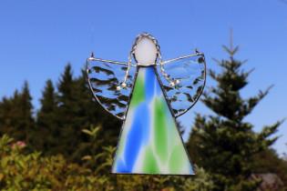 Andělka  s copánky - Lesní sklo