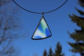 Barevný šperk s patinou - Lesní sklo