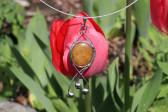 Šperk s béžovým kamínkem - Lesní sklo