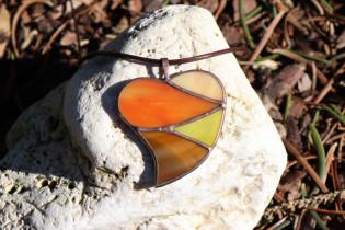 Srdce podzimních barev - Lesní sklo