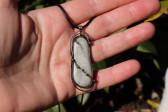 šperk s kamínkem - Lesní sklo