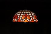 Tiffany lustr na řetězu - Lesní sklo