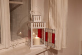 Lucerna červeno-bílá - Lesní sklo