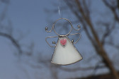 Andílek se srdíčkem bílý - Lesní sklo