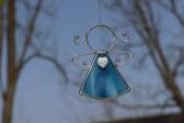 Andílek se srdíčkem modrý - Lesní sklo
