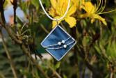 Šperk z moře s korálky - Lesní sklo