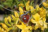 Srdíčko z kamínku a cínu - Lesní sklo