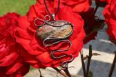 Velký šperk s patinou - Lesní sklo